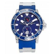 Ulysse Nardin Maxi Marine Diver White gold 42.7mm Blue No numerals