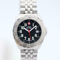 Swiss Military pre-owned Quartz 41.5mm Black Mineral Glass