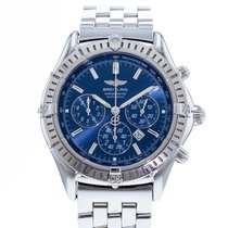 Breitling Shadow Flyback Staal 38mm Blauw
