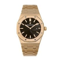 Audemars Piguet Royal Oak Lady Oro rosado 33mm Marrón Sin cifras