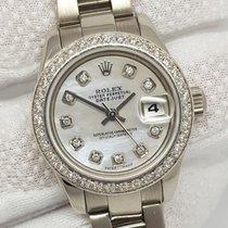 Rolex DateJust Custom Diamond Bezel &MOP Dial 18K White...