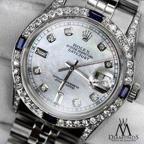 Rolex Сталь Автоподзавод Перламутровый Без цифр 31mm подержанные Lady-Datejust