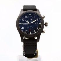 IWC Pilot Chronograph Top Gun Keramiek 46mm Zwart Arabisch
