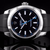 Rolex 116400 SS Milgauss w/ Black Dial with Blue Accent