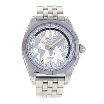 Breitling Galactic Unitime White Dial S. Steel Automatic...