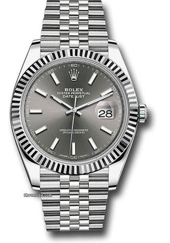 Rolex Datejust 41 rhodium dial dkrij