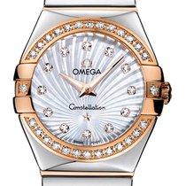 Omega Constellation Χρυσός / Ατσάλι 27mm Μαργαριταρένιο