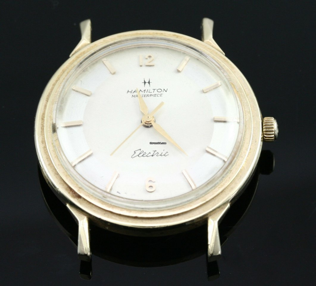 Karat Masterpiece 14 Yellow Hamilton Electric Gold Watch WE2De9IHY