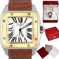 Cartier Santos 100 Gold/Steel 38mm White Roman numerals United States of America, New York, Massapequa Park