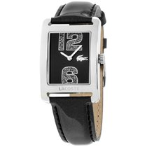 Lacoste Andorra Black Dial Leather Strap Ladies Watch 2000677