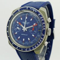 Breitling Plastic Manual winding Blue Arabic numerals 40mm pre-owned
