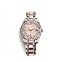 Rolex Pearlmaster Rose gold 34mm Pink