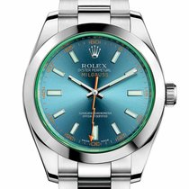 Rolex Milgauss Stahl 40mm Schwarz Keine Ziffern Schweiz, Zug