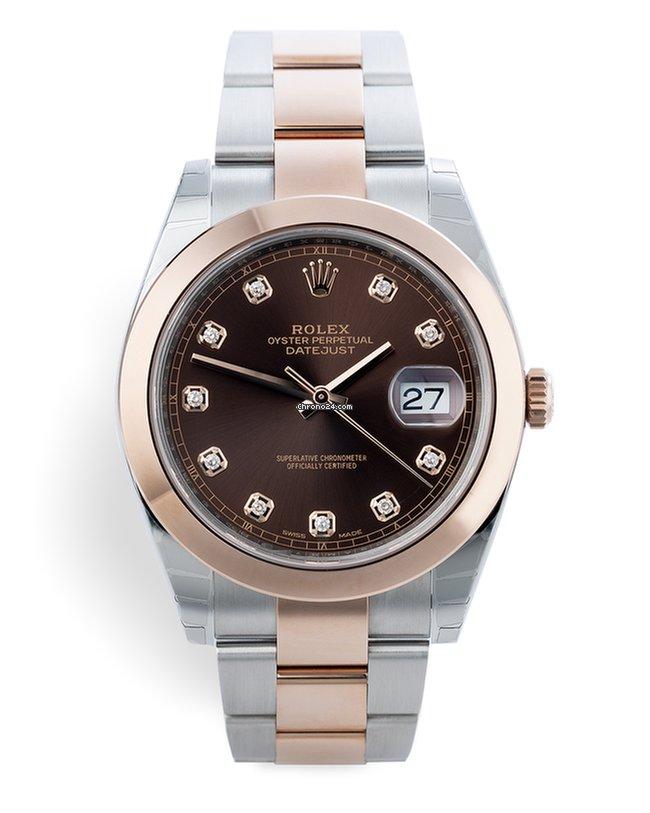 d058b8581e16 Rolex 126301 Datejust 41 Diamond Dial - Everose Gold & Steel Complete Set