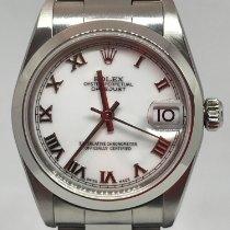 Rolex Lady-Datejust Acier 31mm Blanc Romain