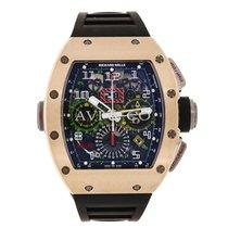 Richard Mille RM 11-02 GMT Rose Gold Titanium Rubber Automatic...