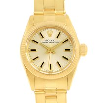 Rolex Oyster Perpetual Nondate 14k Yellow Gold Ladies Watch 6719