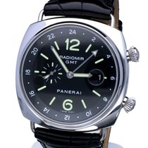Panerai Radiomir Collection GMT Steel Black Dial Deploy. Clasp...
