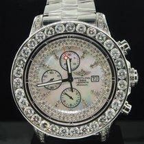Breitling Mens Breitling Super Avenger 1 Row Big Diamond...