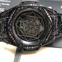Hublot Big Bang Sang Bleu All Black Pave - 465.CS.1114.VR.1700...