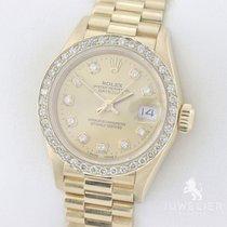Rolex Lady Datejust 26mm 750 Gold Diamanten + Service 10/2018