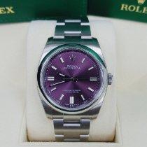 Rolex Oyster Perpetual 36 Stahl 36mm Violett Keine Ziffern