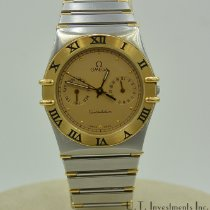 Omega Constellation Day-Date Gold/Steel 34mm Roman numerals