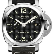 Panerai Steel Automatic Black Arabic numerals 42mm new Luminor 1950 3 Days GMT Automatic
