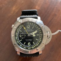 Panerai Luminor Submersible 1950 Depth Gauge Titanium 47mm Black No numerals