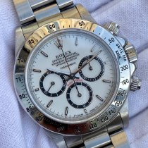 Rolex Daytona pre-owned 40mm Mother of pearl Chronograph Steel