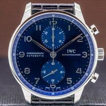 IWC Portuguese Chronograph Stål 40mm Blå Arabisk