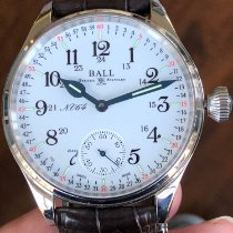 Ball Trainmaster pre-owned 44mm White Leather