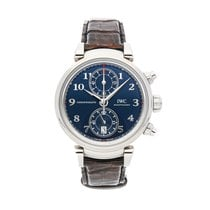 IWC Da Vinci Chronograph Steel 42mm Blue Arabic numerals