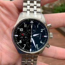 IWC Pilot Chronograph Çelik 43mm Siyah Arapça