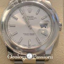 Rolex Datejust Acero 41mm Plata Sin cifras
