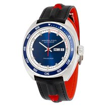 Hamilton Pan Europ Day-Date Navy Blue Dial Automatic Mens...