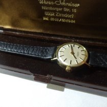 Roamer Yellow gold Manual winding Champagne No numerals 21mm pre-owned