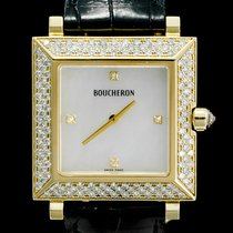Boucheron Reflet Yellow gold 29mm Mother of pearl No numerals