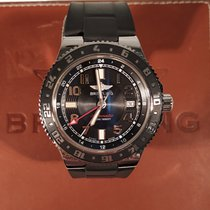 Breitling Superocean GMT Steel 41mm Black Arabic numerals United Kingdom, Edinburgh