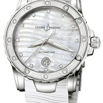 Ulysse Nardin pre-owned Automatic 40mm Mother of pearl Sapphire Glass 10 ATM
