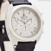 Zenith El Primero pre-owned 36mm Silver Chronograph Leather