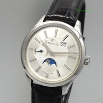 Zenith Captain Moonphase Acero 44mm Plata Sin cifras