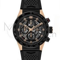 TAG Heuer Or rose Remontage automatique 43mm Carrera Calibre HEUER 01
