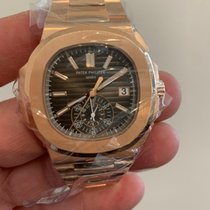 Patek Philippe Nautilus Rose gold 40.5mm Black No numerals United Kingdom, London