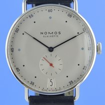 NOMOS Metro 38 pre-owned 38mm Silver Date Leather
