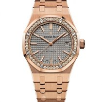 Audemars Piguet Royal Oak Lady Roségoud 37mm Grijs