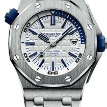 Audemars Piguet Royal Oak Offshore Diver Steel 42mm White No numerals