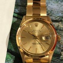 Rolex Oyster Perpetual Date Žluté zlato 34mm Zlatá Bez čísel