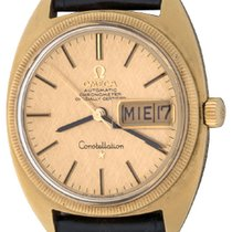 Omega Or jaune 34mm Remontage automatique Constellation occasion