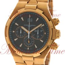 Vacheron Constantin Rose gold Automatic Brown No numerals 42mm pre-owned Overseas Chronograph